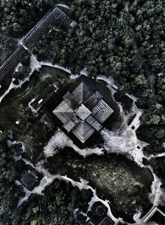 Aerial picture of Chichen Itza, Mexico