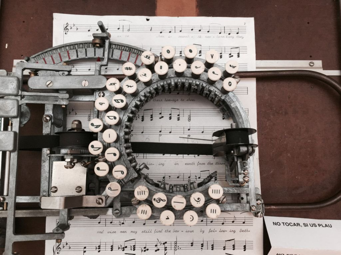 Old music typewriter